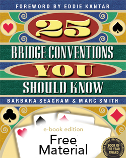 Free Material from 25 Bridge Conventions You Should Know